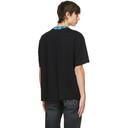 Acne Studios Black and Blue Face Motif T-Shirt