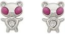 Jiwinaia Pink & White Hybrid Bear Earrings