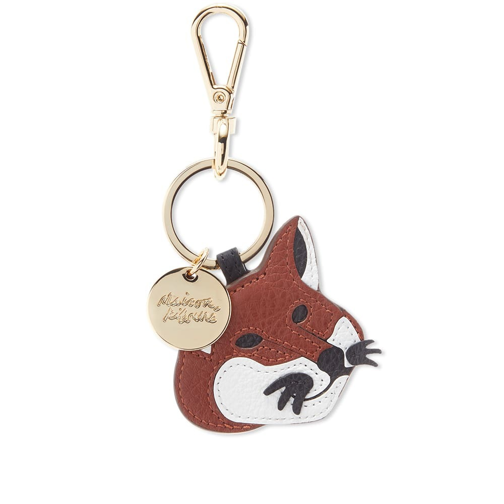 Photo: Maison Kitsuné Leather Fox Head Keyring