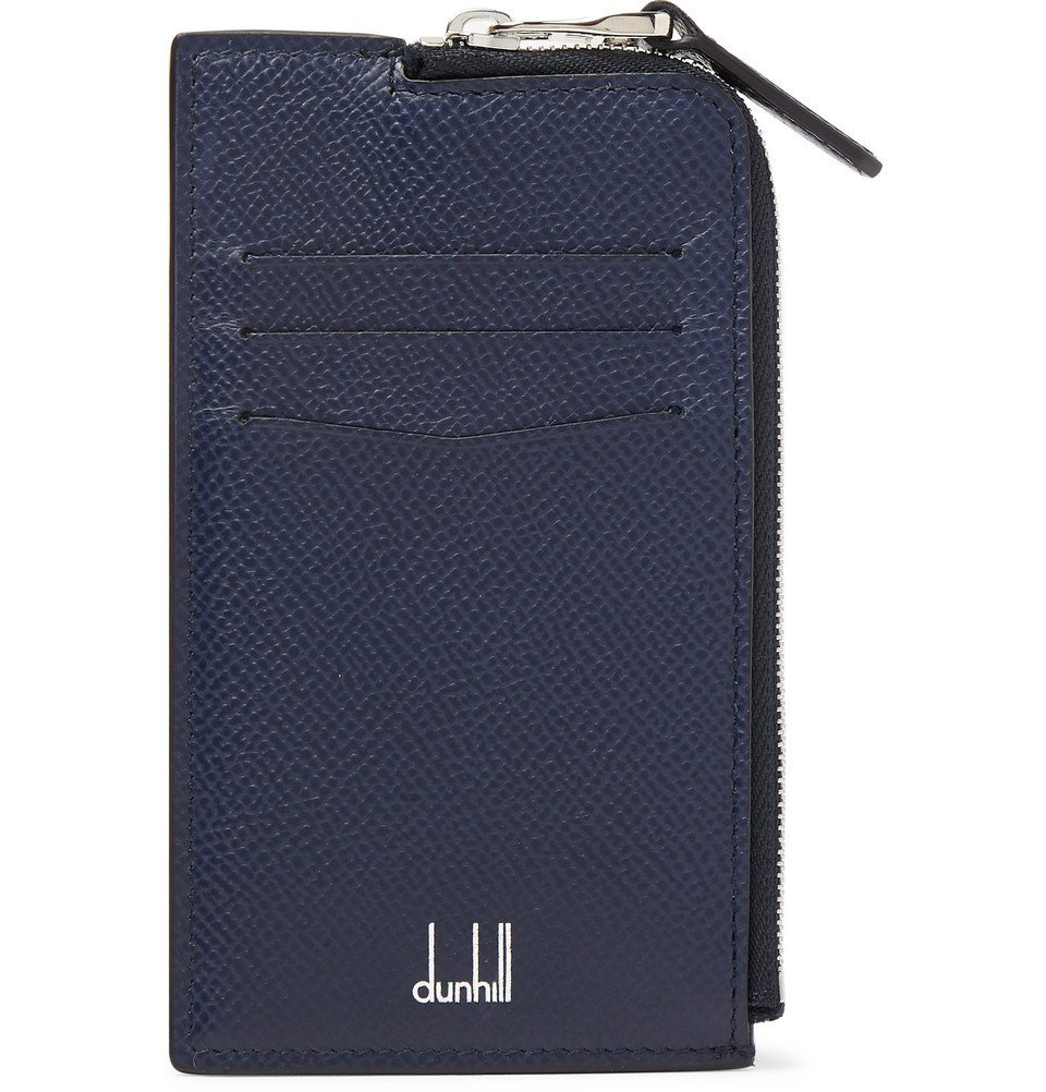 Dunhill - Cadogan Full-Grain Leather Zip-Around Cardholder - Navy