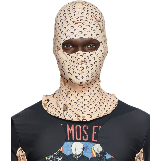 Photo: Marine Serre Tan Second Skin Printed Balaclava