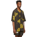 3.1 Phillip Lim Brown and Yellow Oversized Hibiscus Floral Souvenir Tunic Shirt