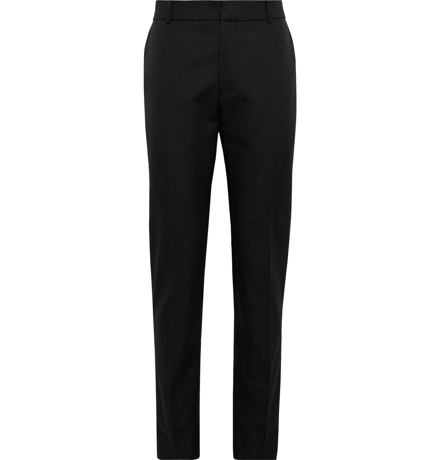 Photo: Alexander McQueen - Slim-Fit Logo-Embroidered Panama Cotton Trousers - Black