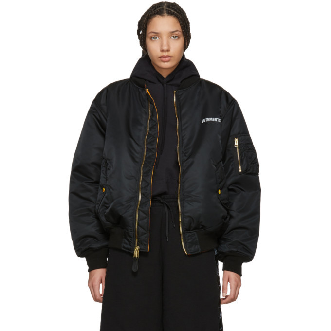 Vetements Reversible Black Alpha Industries Edition