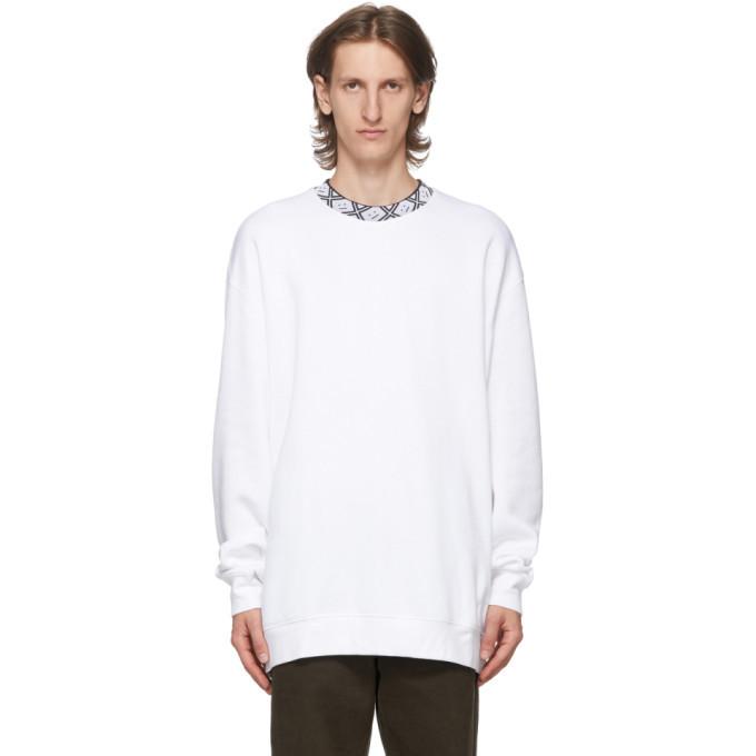 Photo: Acne Studios White Motif Future Sweatshirt