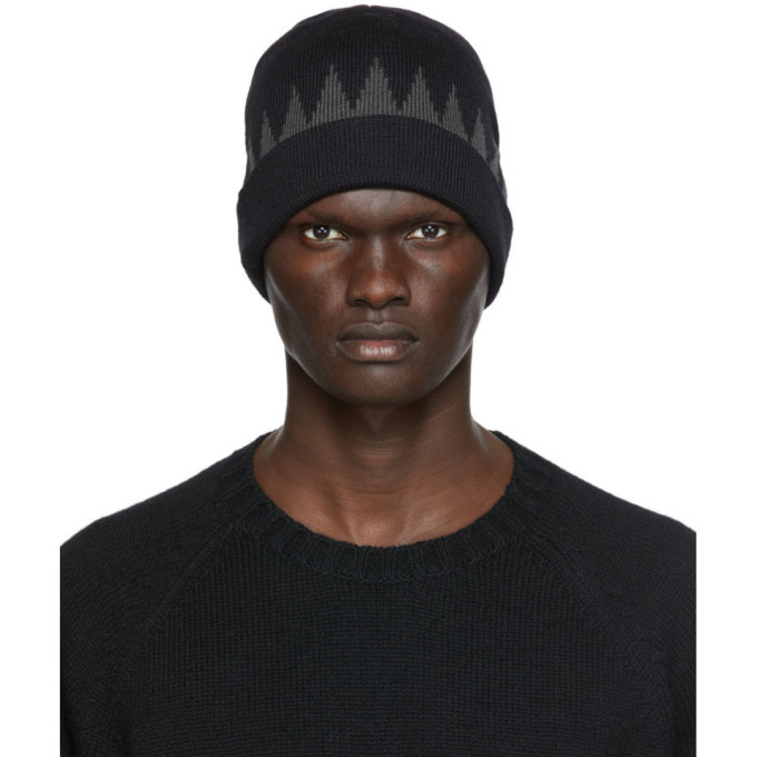 Photo: Undercover Black and Grey Wool Beanie