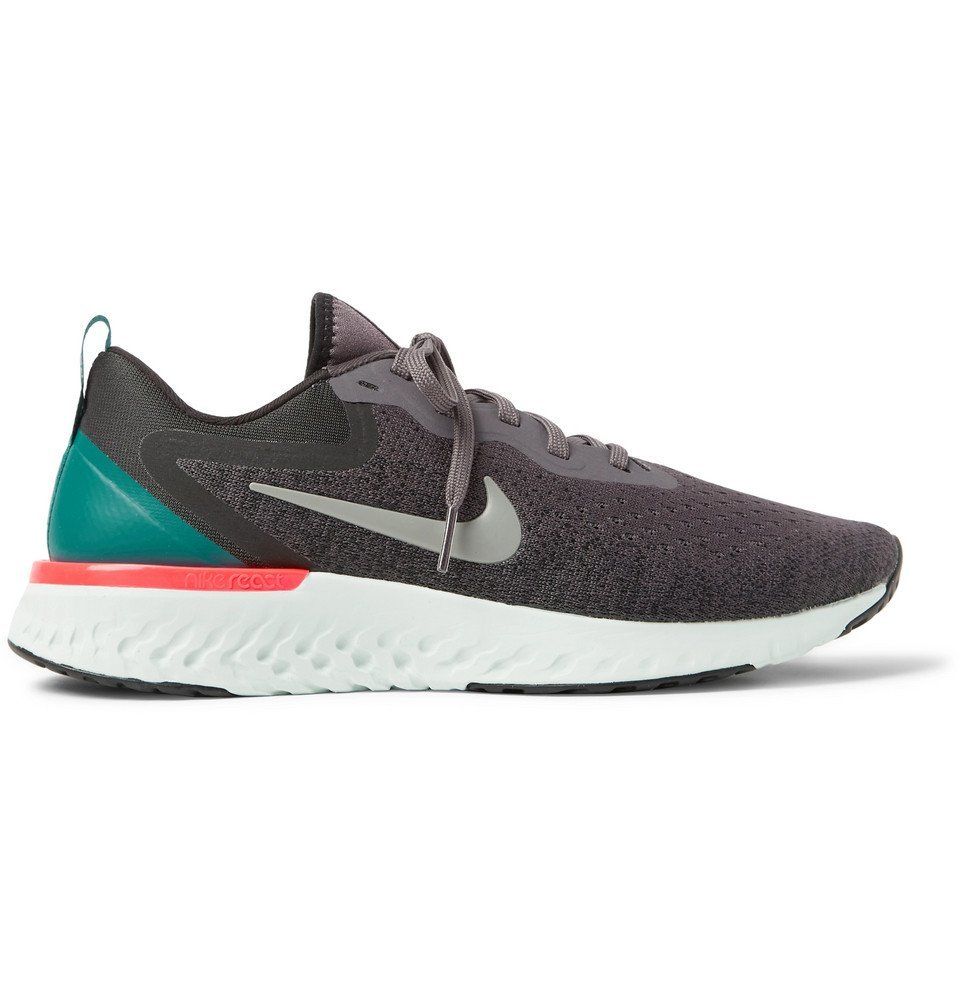 Nike Running - Odyssey React Flyknit Sneakers - Charcoal