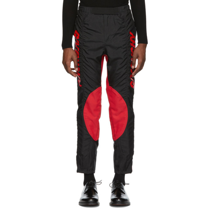 Photo: Givenchy Black and Red Two-Toned Biker Pants