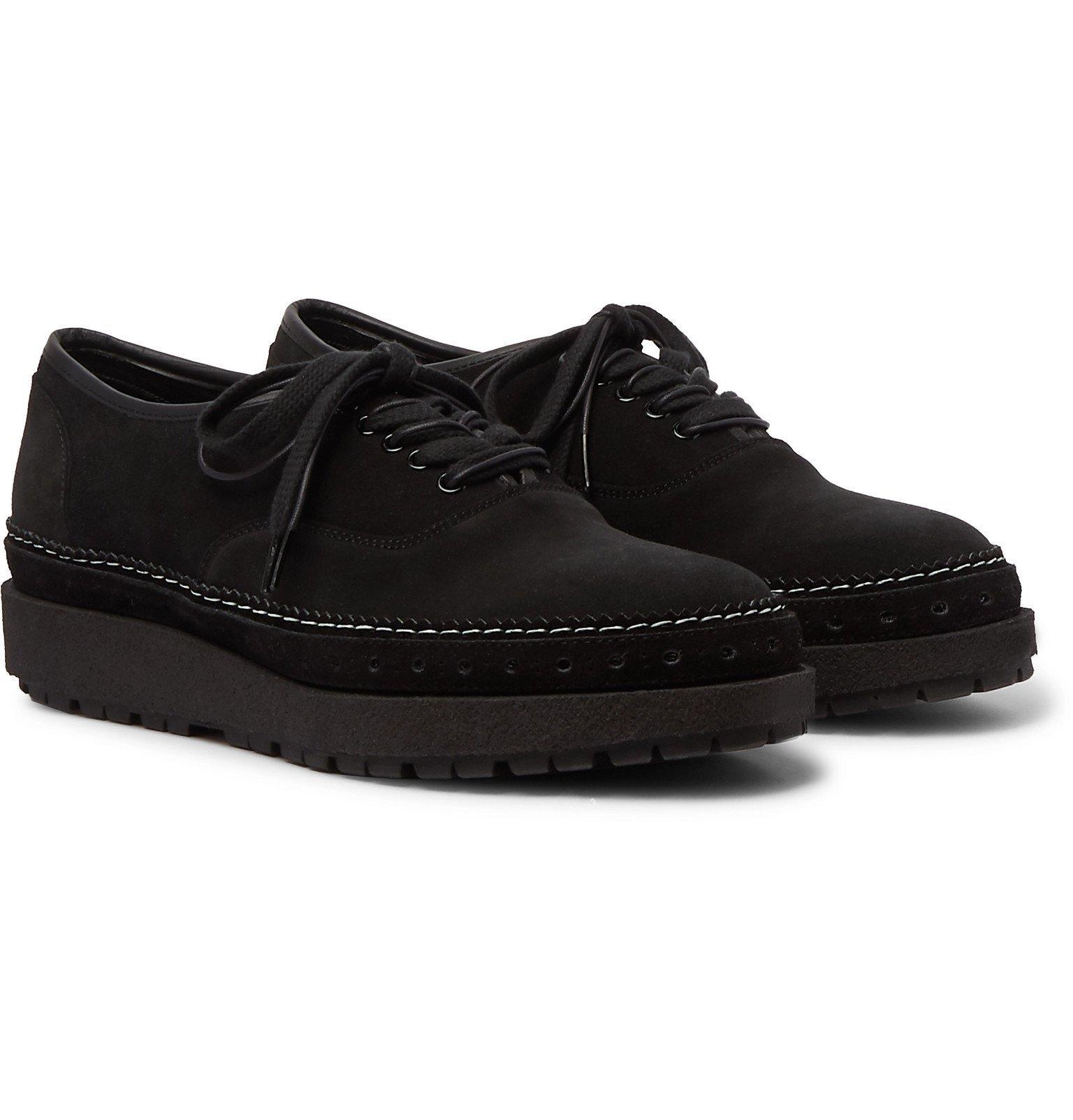 Sacai - Suede Derby Shoes - Black