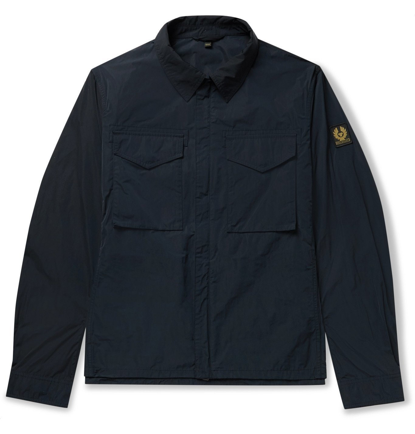 Photo: BELSTAFF - Command Logo-Appliquéd Shell Shirt Jacket - Blue