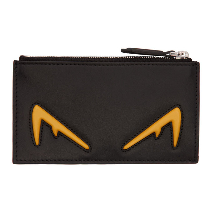 Photo: Fendi Black and Yellow Bag Bugs Coin Wallet