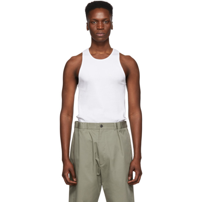 Photo: Helmut Lang White Stacked Tank Top