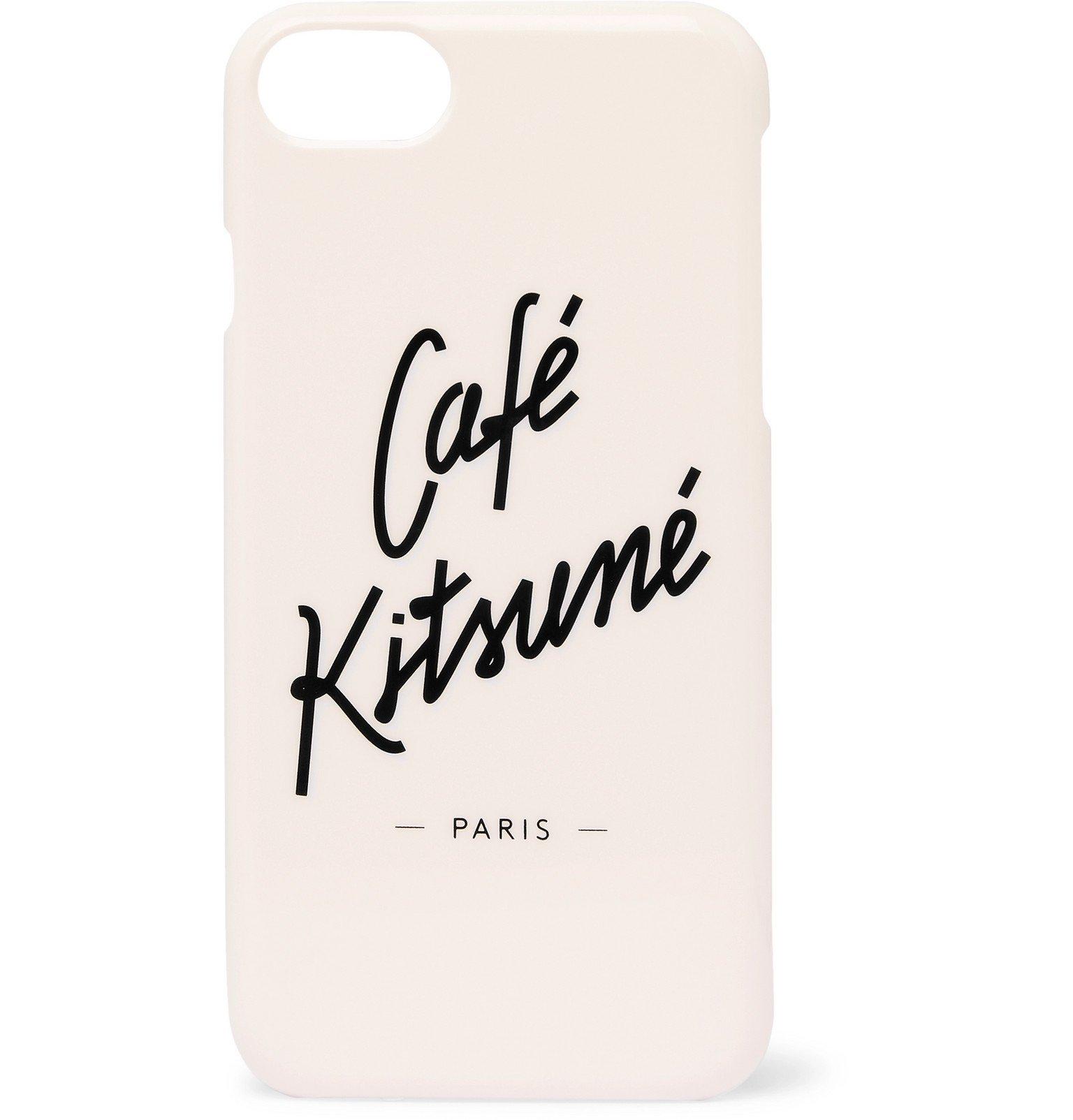 Photo: Café Kitsuné - Logo-Print iPhone 8 Case - Neutrals