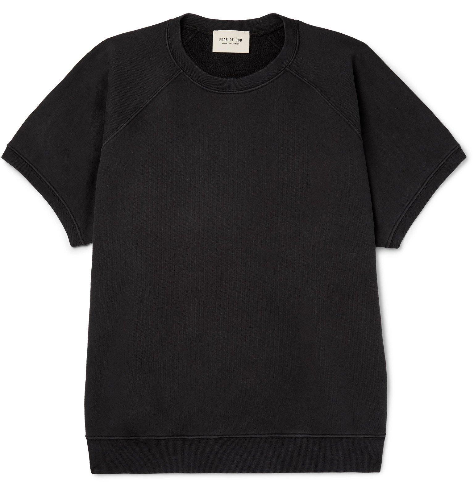 Photo: Fear of God - Oversized Loopback Cotton-Jersey Sweatshirt - Black