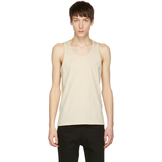 Photo: Lemaire SSENSE Exclusive Beige Cotton Tank Top