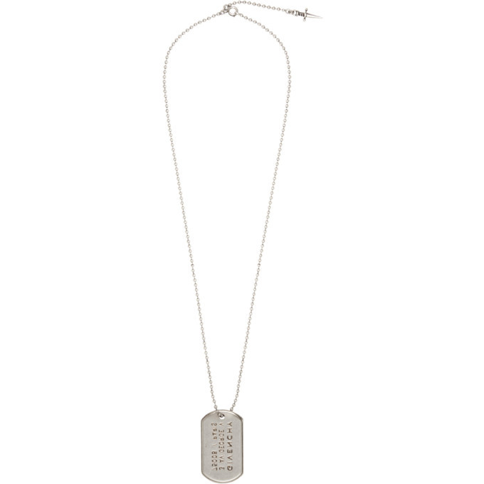 Photo: Givenchy Silver Tag Necklace