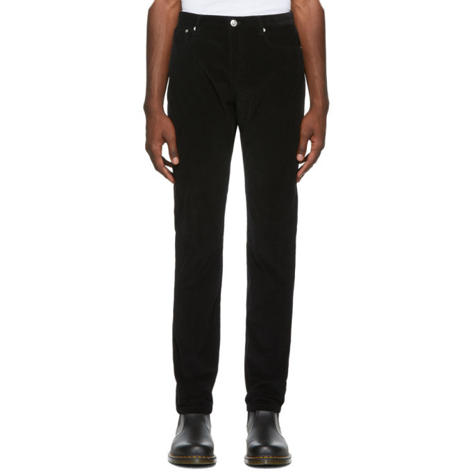 Photo: A.P.C. Black Corduroy Petit Standard Trousers