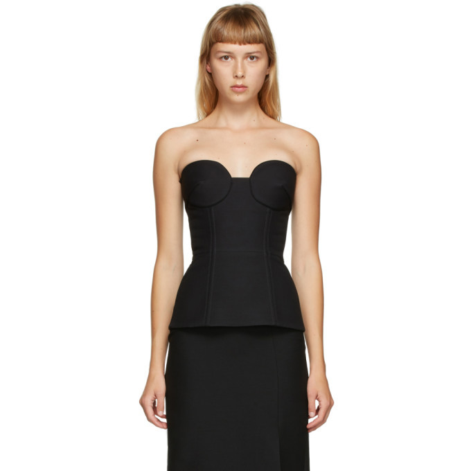 Photo: Valentino Black Wool and Silk Crepe Bustier