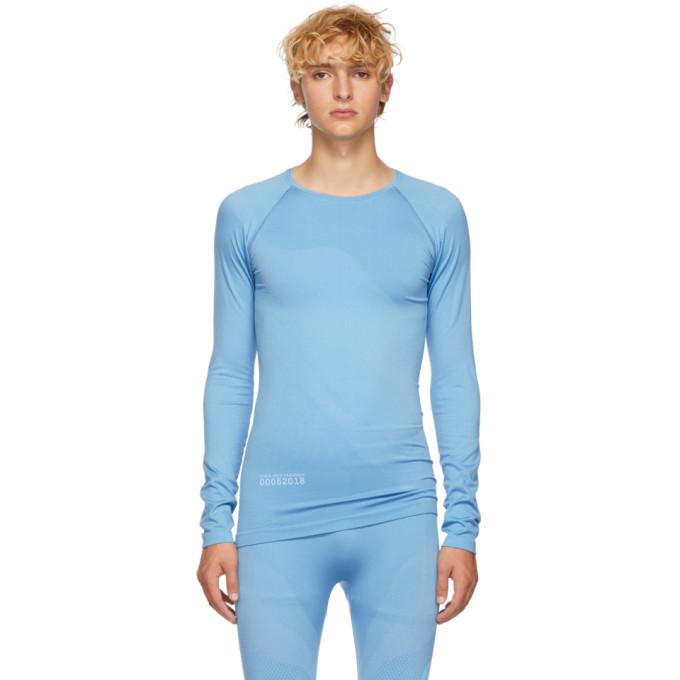 Photo: Kiko Kostadinov Blue Asics Edition Seamless Kiko T-Shirt