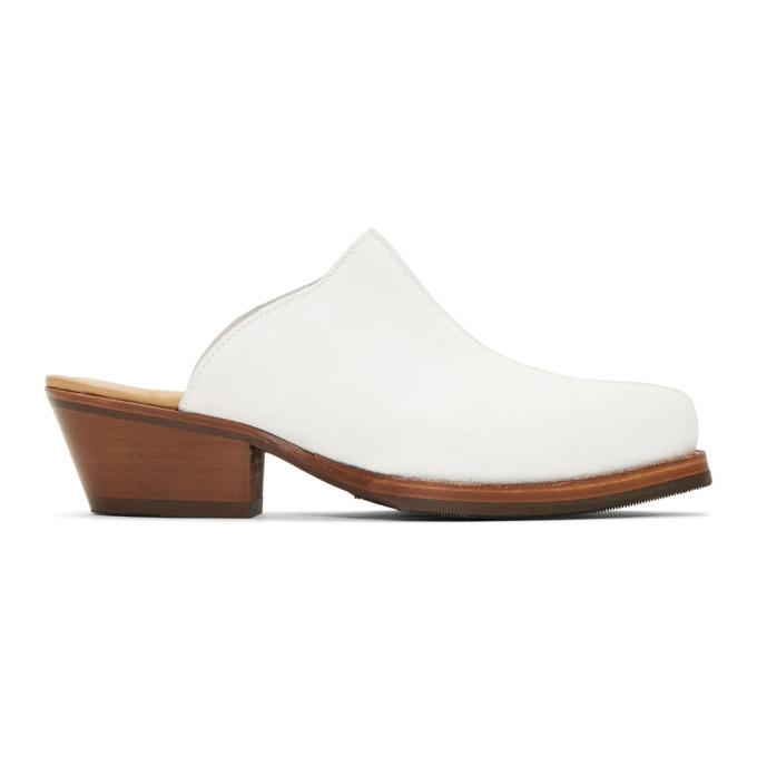 Photo: Our Legacy White Mule Slip-On Loafers