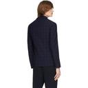Giorgio Armani Navy Wool Seersucker Blazer