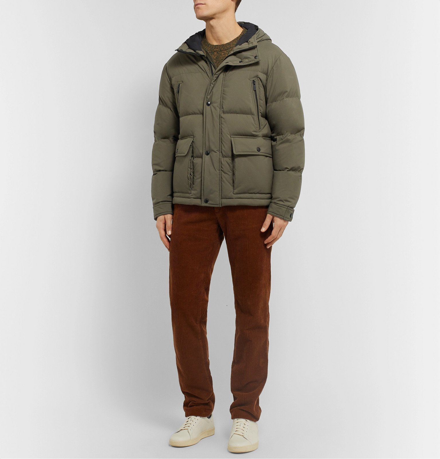 Tod's - Quilted Shell Hooded Down Jacket - Green