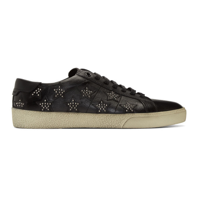 Photo: Saint Laurent Black Star Stud SL/06 Sneakers