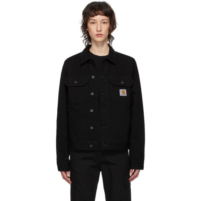 Photo: Carhartt Work In Progress Black Denim Stetson Jacket