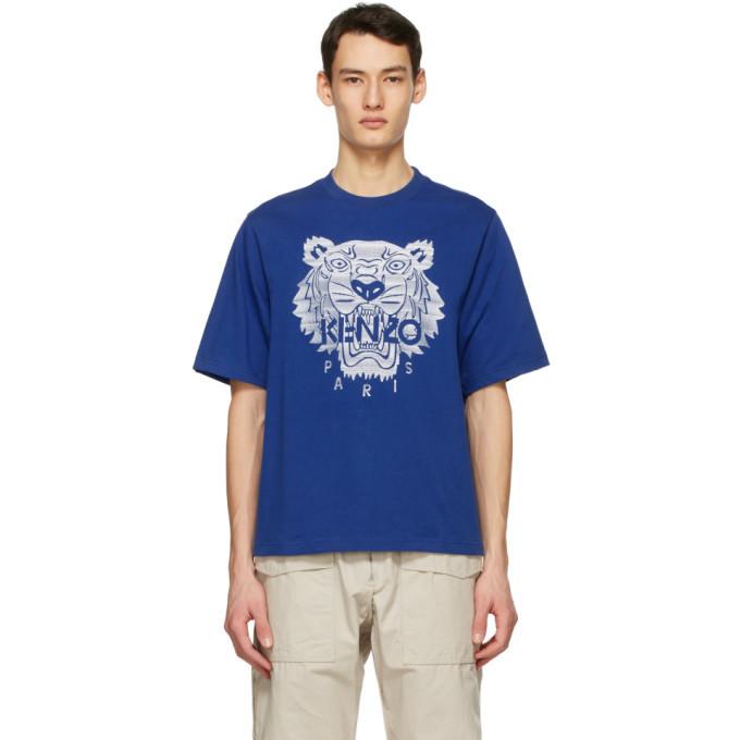 Photo: Kenzo Blue Oversized Tiger T-Shirt