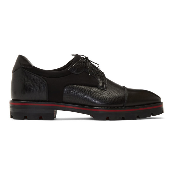 Photo: Christian Louboutin Black Mika Sky Flat Derbys