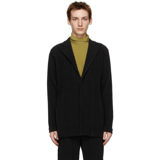 Photo: Homme Plisse Issey Miyake Black Tailored Pleats 2 Blazer