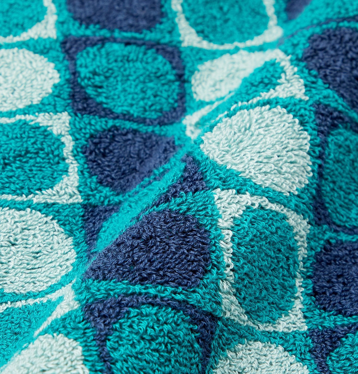 Cleverly Laundry - Cotton-Terry Jacquard Beach Towel - Blue