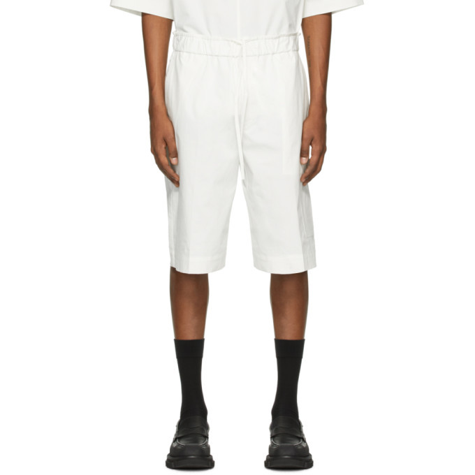 Photo: 3.1 Phillip Lim Off-White Poplin Washed Shorts