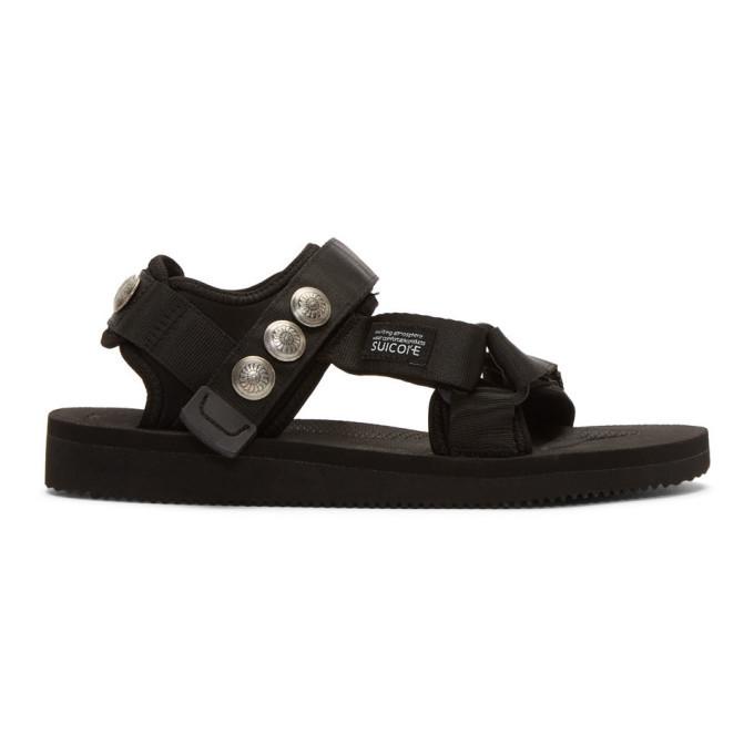 Photo: John Elliott Black Suicoke and Blackmeans Edition Lotus Sandals