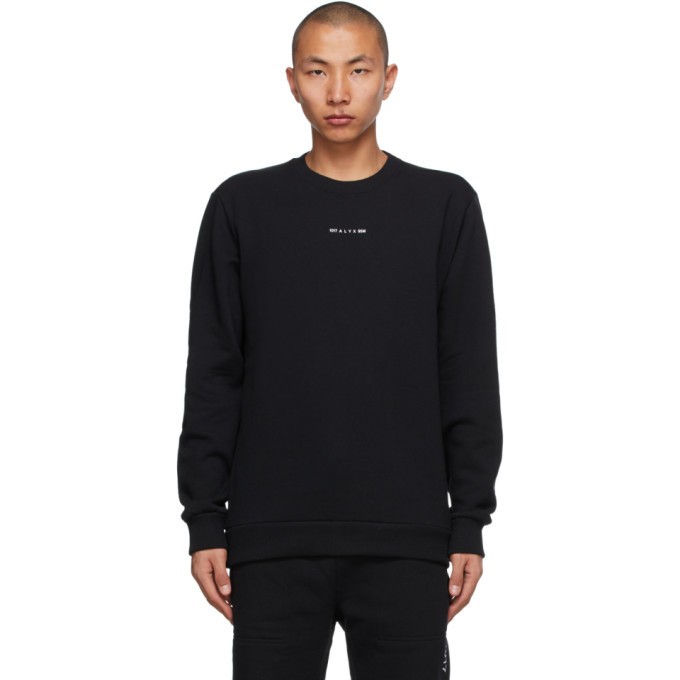 Photo: 1017 ALYX 9SM Black Crewneck Visual Sweatshirt