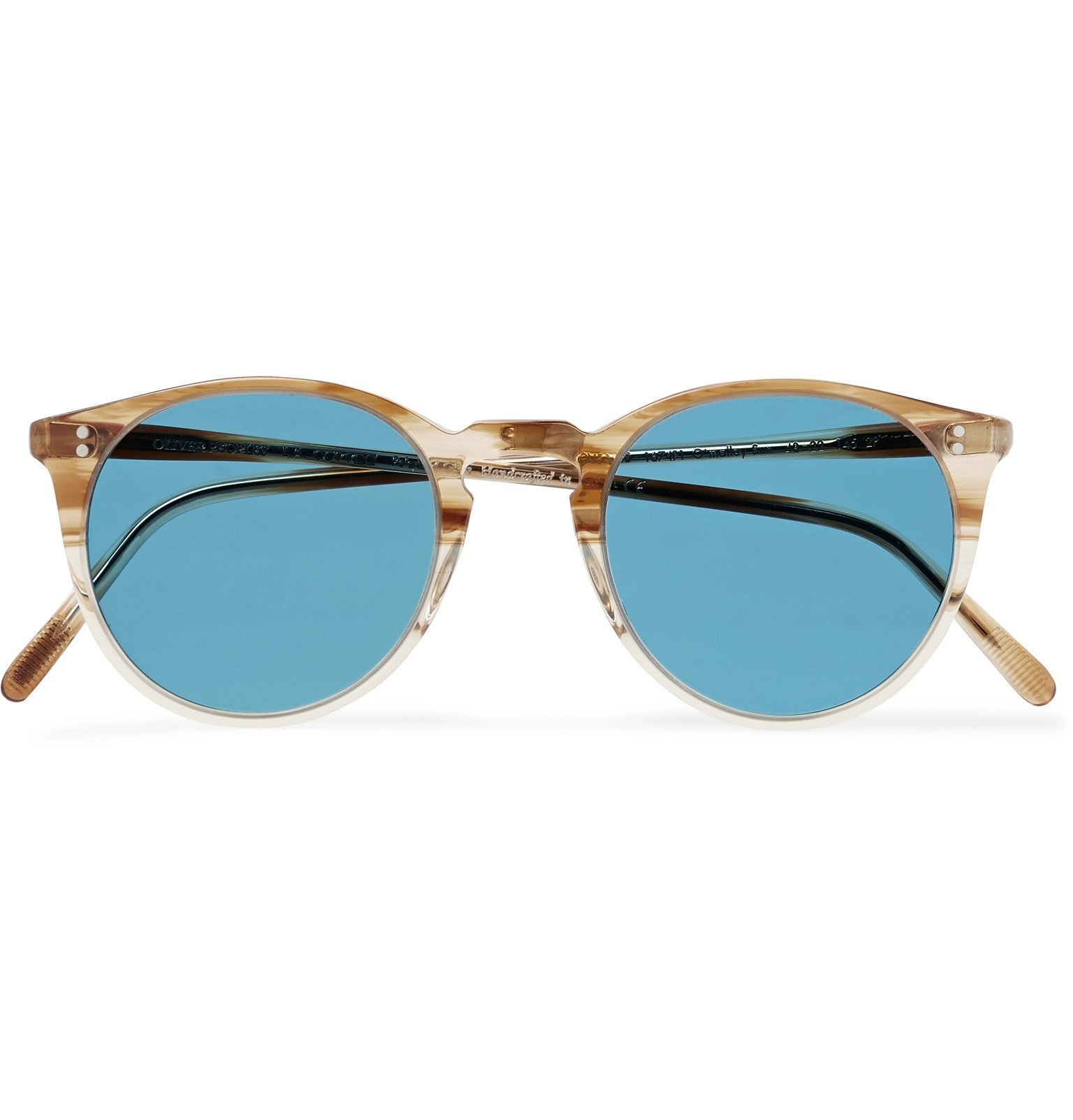 Oliver Peoples - O'Malley Round-Frame Acetate Sunglasses - Brown
