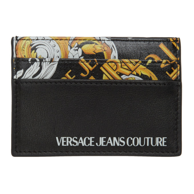Photo: Versace Jeans Couture Black Barocco Card Holder