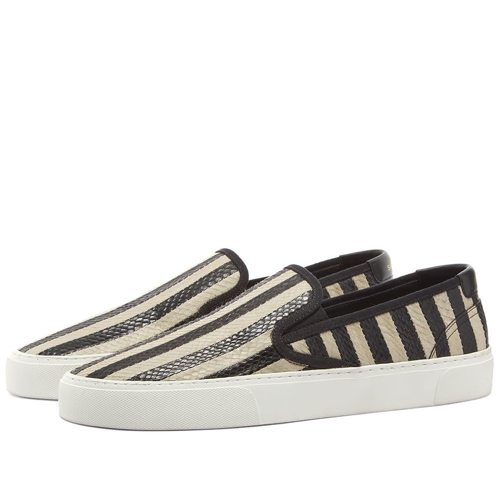 Photo: Saint Laurent Venice Slip On Scale Stripe Sneaker