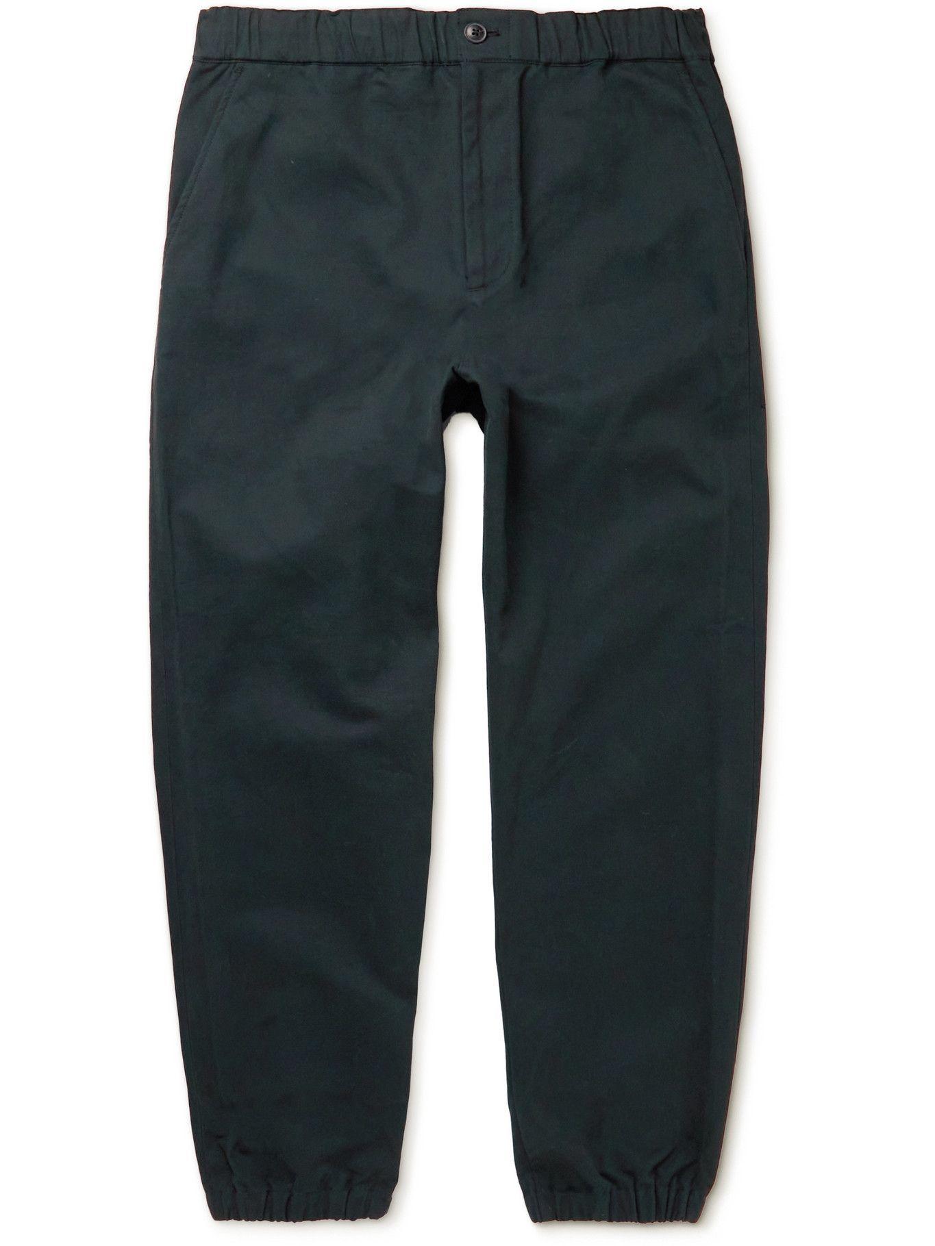 Photo: Club Monaco - Tapered Cotton Trousers - Black