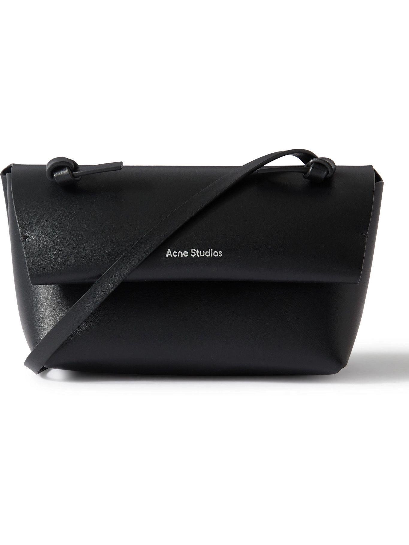Photo: Acne Studios - Small Logo-Print Leather Messenger Bag