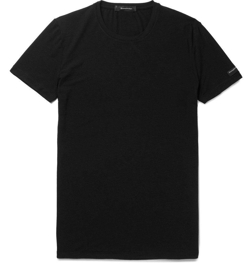 Photo: Ermenegildo Zegna - Stretch-Modal T-Shirt - Black
