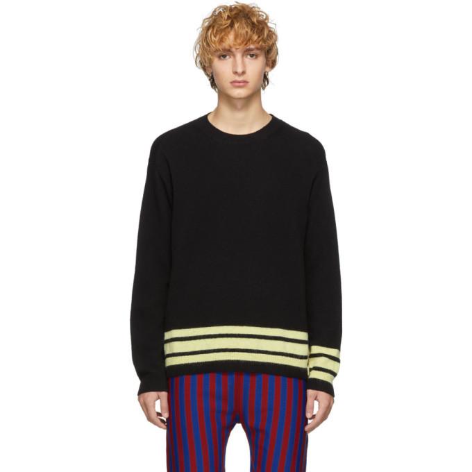 Marni Black And Yellow Striped Sweater Marni