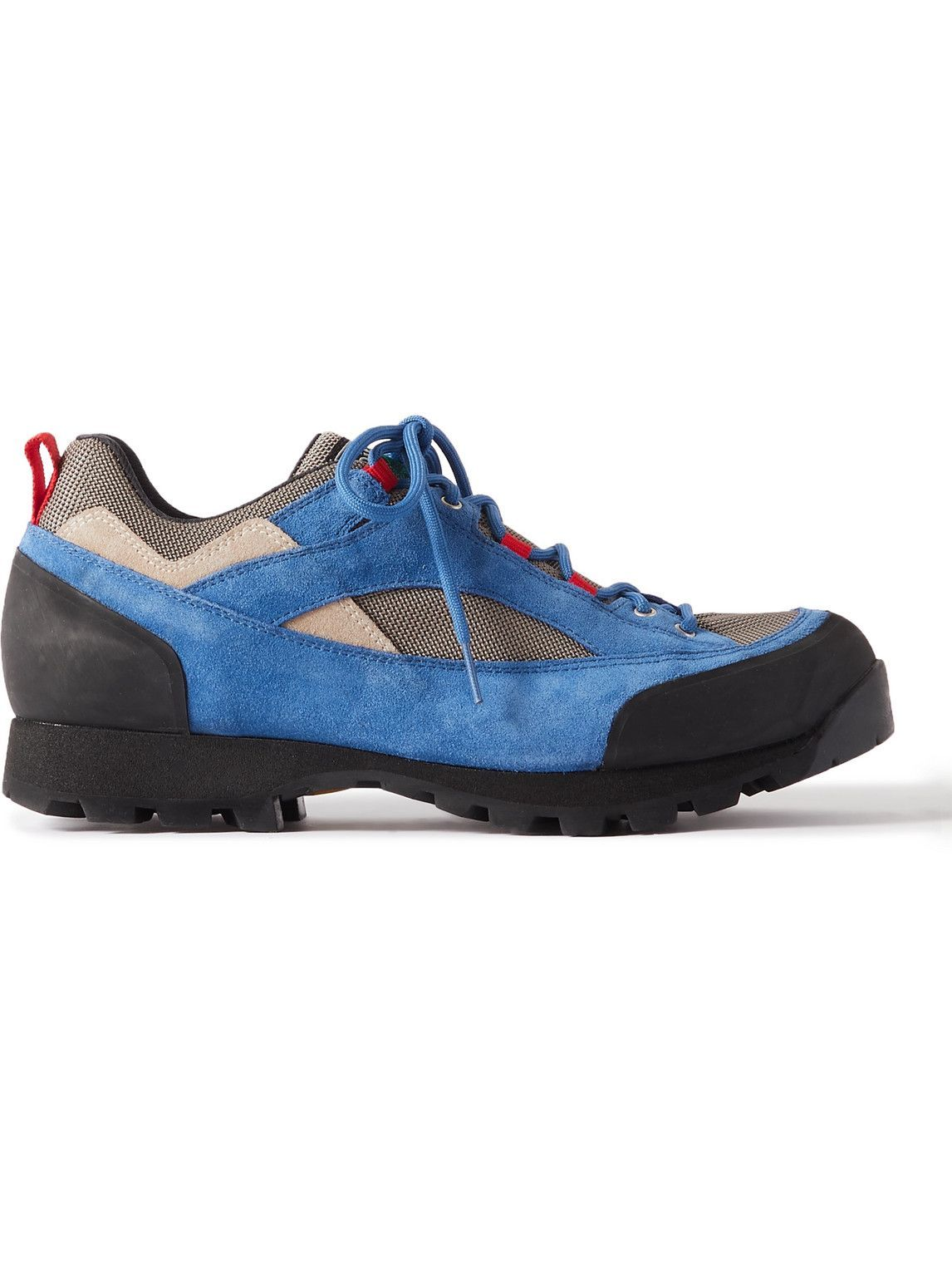 Photo: Diemme - Montegrappa Panelled Suede and Canvas Sneakers - Blue