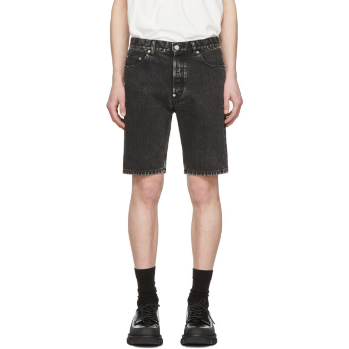 Photo: Johnlawrencesullivan Black Denim Bleached Shorts