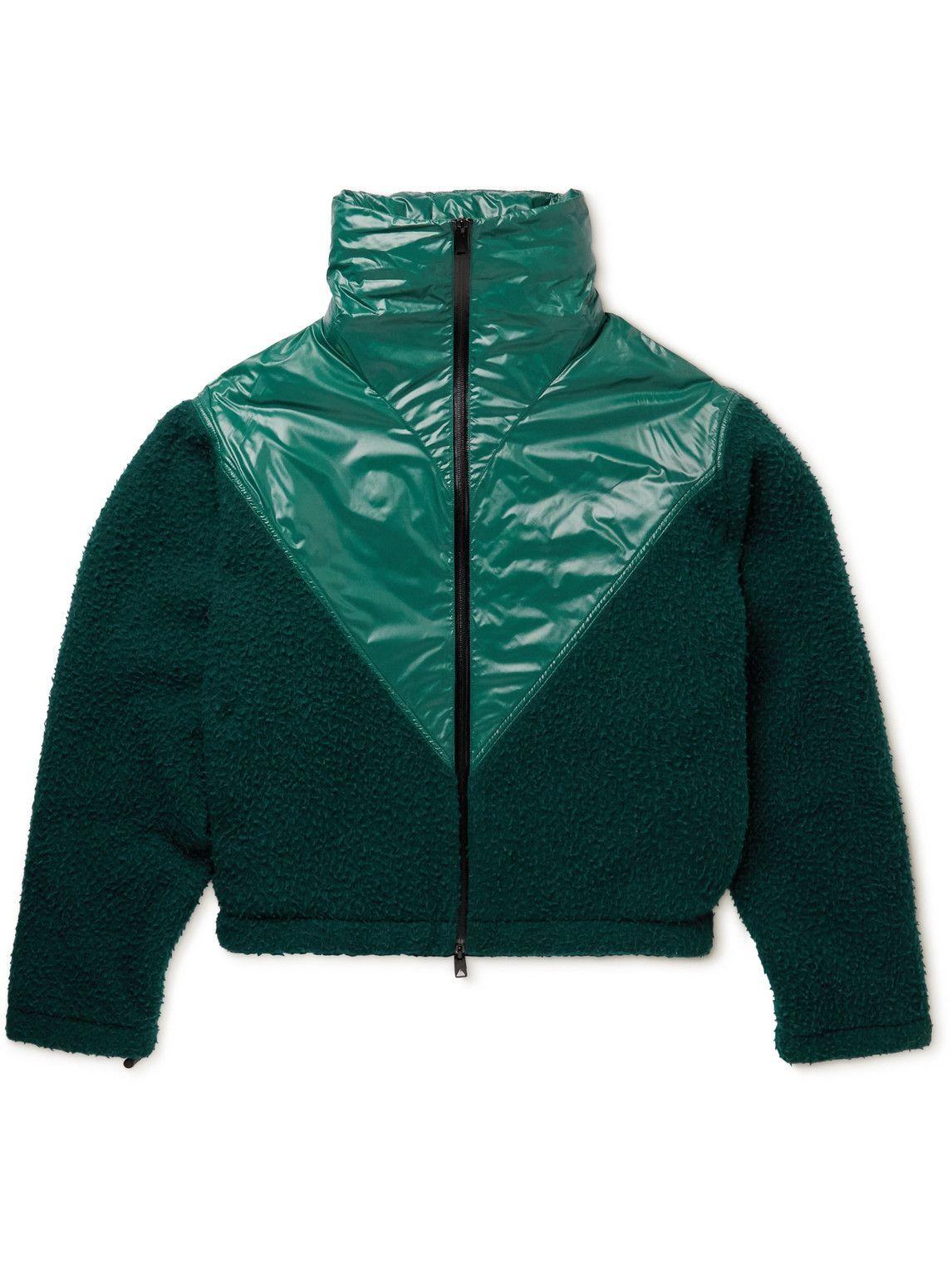 Photo: Bottega Veneta - Hooded Panelled Fleece and Shell Jacket - Blue