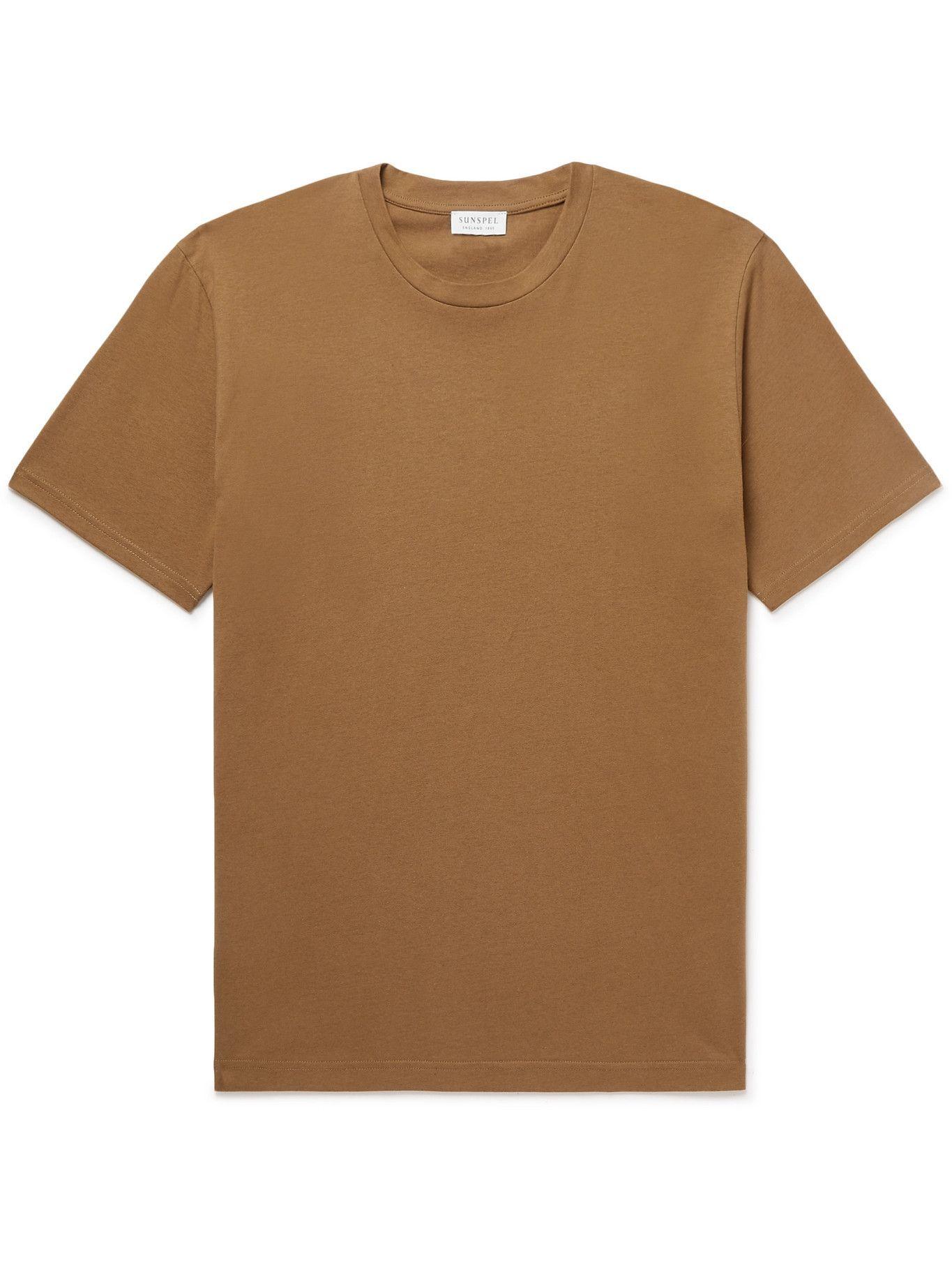 Photo: Sunspel - Riviera Cotton-Jersey T-Shirt - Brown