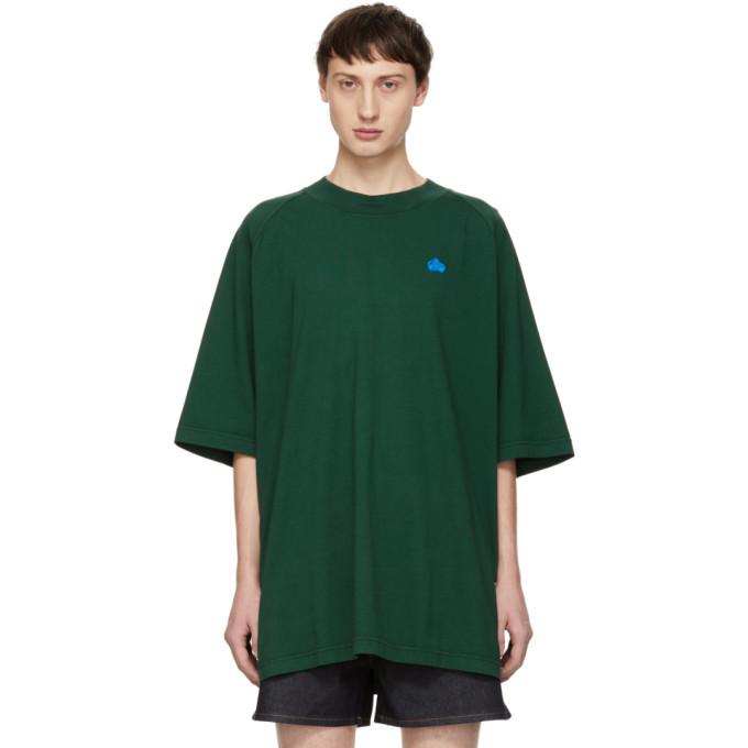 Photo: Acne Studios Green Bla Konst Bassetty Badge T-Shirt