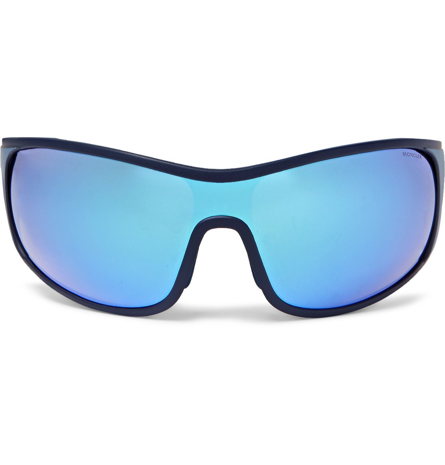 Photo: Moncler - Wrap-Frame Polarised Acetate Sunglasses - Blue