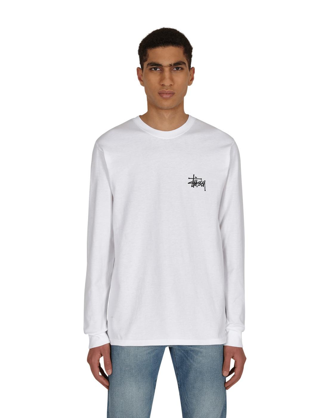 Photo: Stussy Basic Stussy Longsleeve T Shirt White