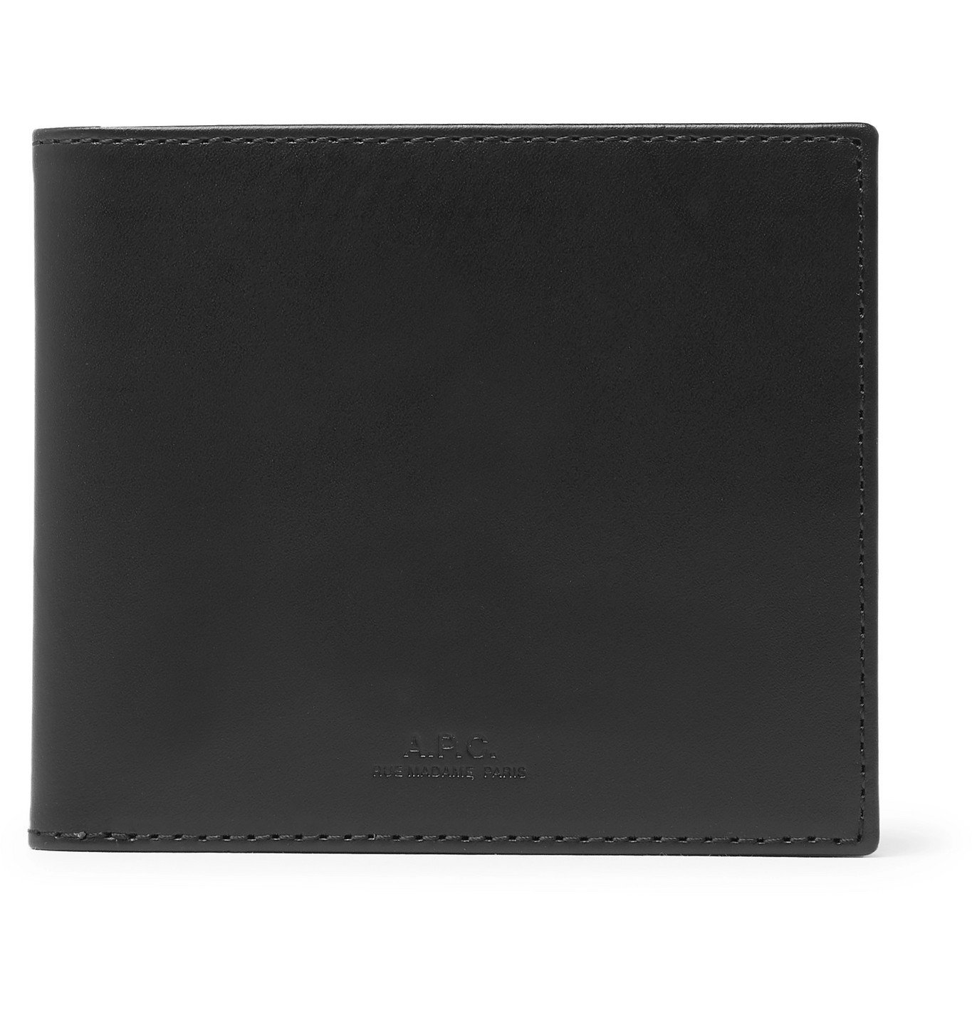 Photo: A.P.C. - Leather Billfold Wallet - Black